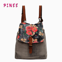 Famous designer bags 2014 multifunction women messenger bag canvas school bags for teenagers(China (Mainland))