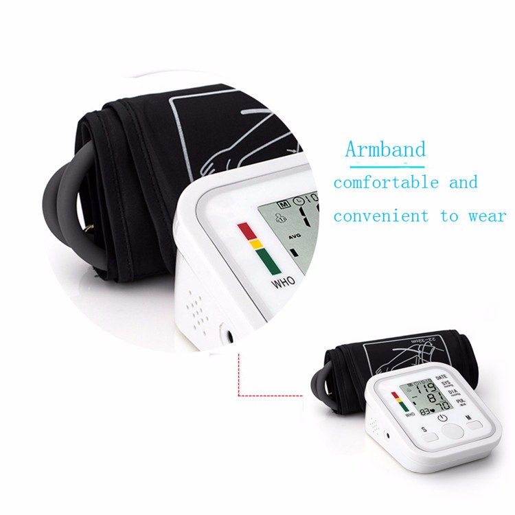 Arm Blood Pressure Pulse Monitor Health Care Monitors Digital Upper Portable Blood Pressure Monitor Meters Sphygmomanometer cheap