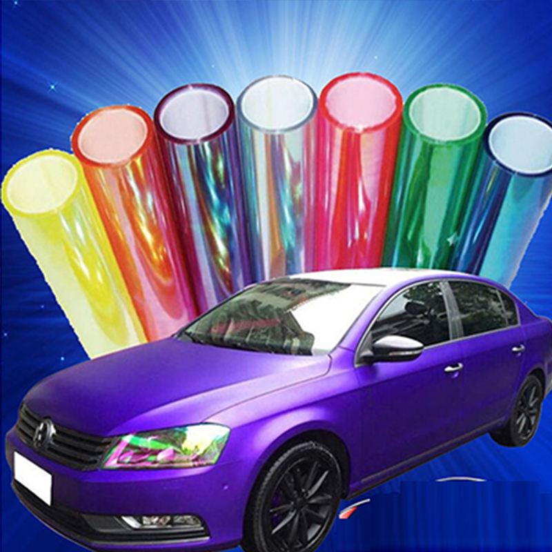 New100*30cm Roll Shiny Cool Chameleon Autosticker Motorcycle Car-styling Headlights Taillights 6 Car Tinting Film Change Color(China (Mainland))