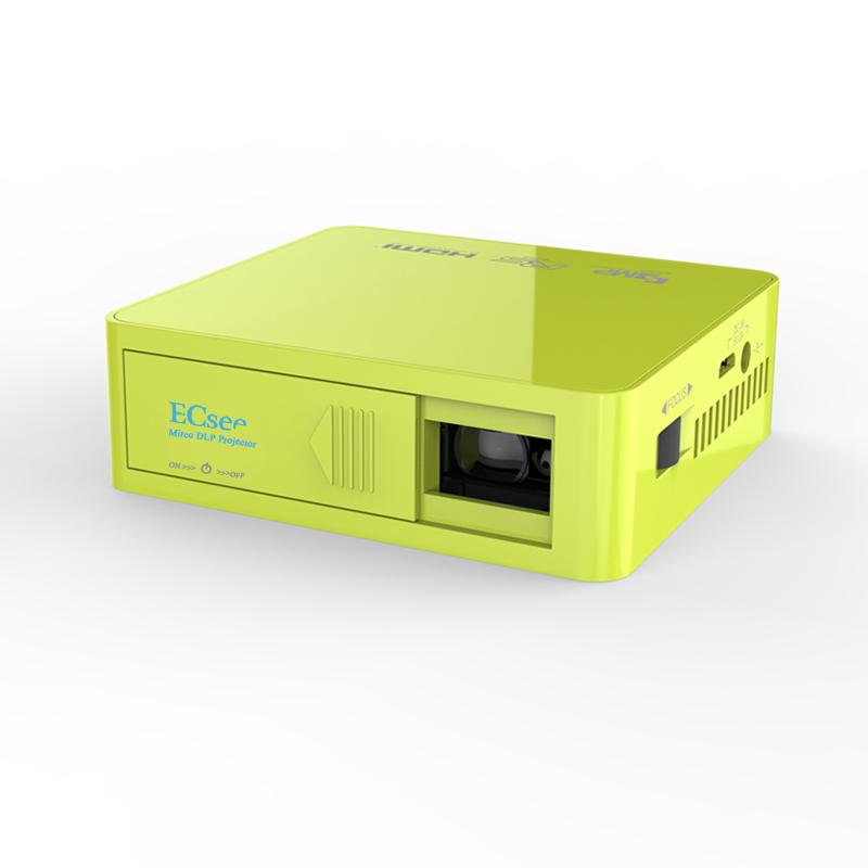 ECsee ES130 854X480 Full HD1080P DLP LED Projector 800 lumens Household Mini Portable Projector Input USB