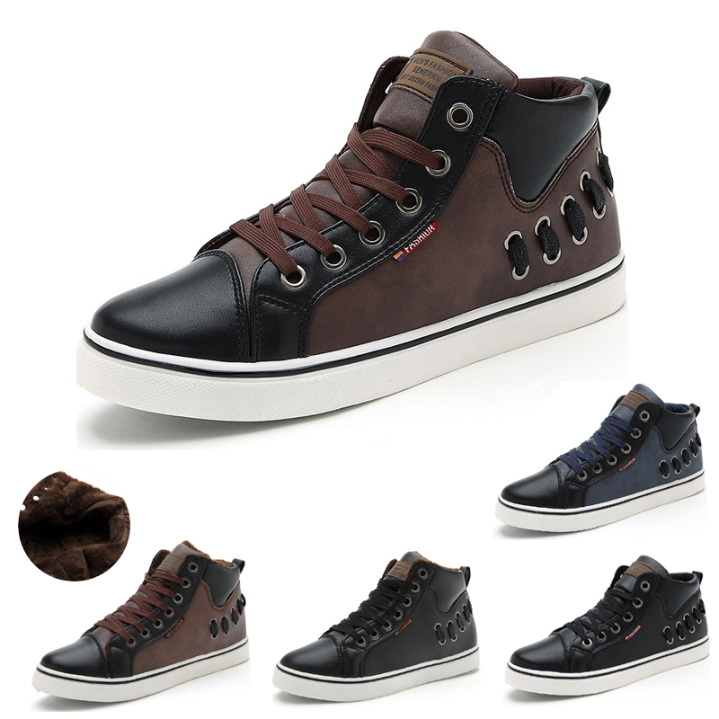 New 2015 Free shipping Fashion Autumn Winter boots Warm Men Boots Leather Classic Men Flats Casual shoes Zapatillas(China (Mainland))