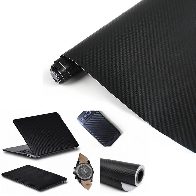 High Quality 1270mmx300mm waterproof 3D Carbon Fibre Vinyl Sheet Wrap Sticker Film Paper Decal Black L014155(China (Mainland))