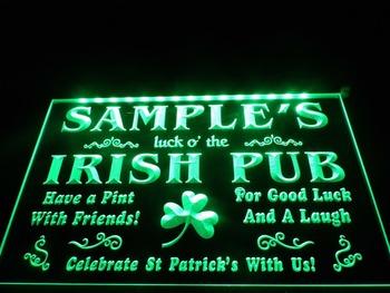 DZ052- Name Personalized Custom Luck o' the Irish Pub St LED Neon Light Sign