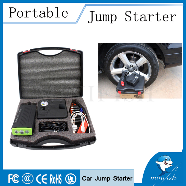 Multi-function Jump Starter Emergency Car Auto Power Bank External Battery Charger with Electric Air Pump(China (Mainland))