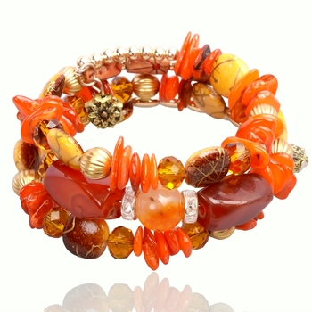 Десять стиль мода имитация ювелирных камней браслет рукоделие многослойные природный ...