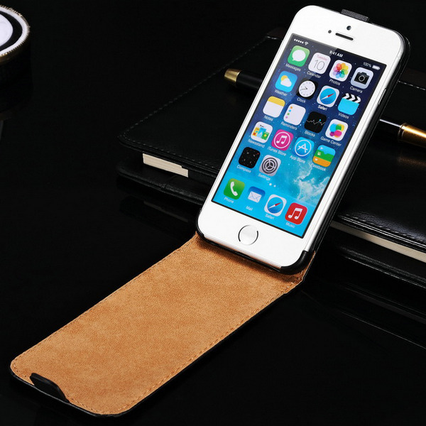 300 pcs/lot Flip Genuine Leather Case For iPhone 6 Plus 5.5 Inch Mobile Phone Back Cover Brand New Wholesale DHL