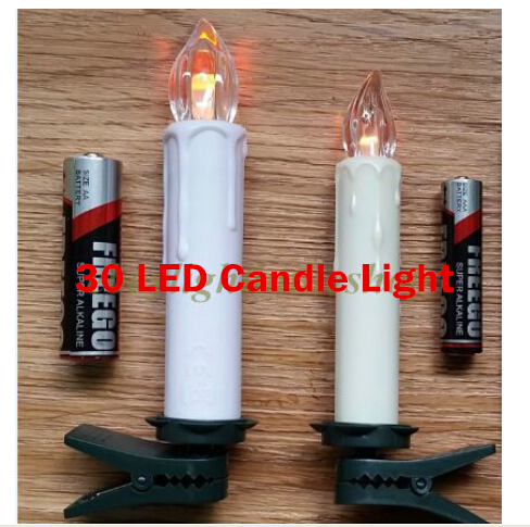 30x LED Christmas Decorate Lamp Remote Control Wax Flameless Flickering LED Candle Lights Home(China (Mainland))