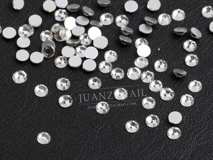 Гаджет  1440pcs/Lot, ss3 (1.3-1.5mm) Crystal/Clear Nail Art Non Hotfix Flat Back Crystals rhinestones for 3d nail art decorations charms None Красота и здоровье
