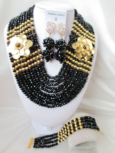 Trendy NEW African Beads Jewelry Set Crystal Beads Necklace Set Nigerian Wedding African Jewelry Set Free shipping  WI-608<br><br>Aliexpress