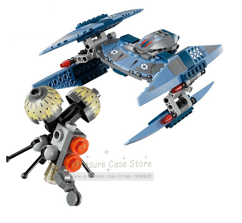 SY310 Star Wars Vulture Droid Buzz & Pilot Battle Droid Neimoidian Warrior building block set minifigure Compatible With Lego(China (Mainland))