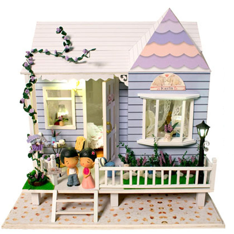 Dollhouse Miniature Model Building Kits 3D Handmade Wooden Diy Doll House Furniture Christmas Birthday Greative Gift Toys - BOA 's store