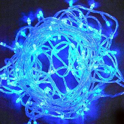 100% New Led Christmas Tree Wedding Party Blue LED Light 10 Meters(Hong Kong)