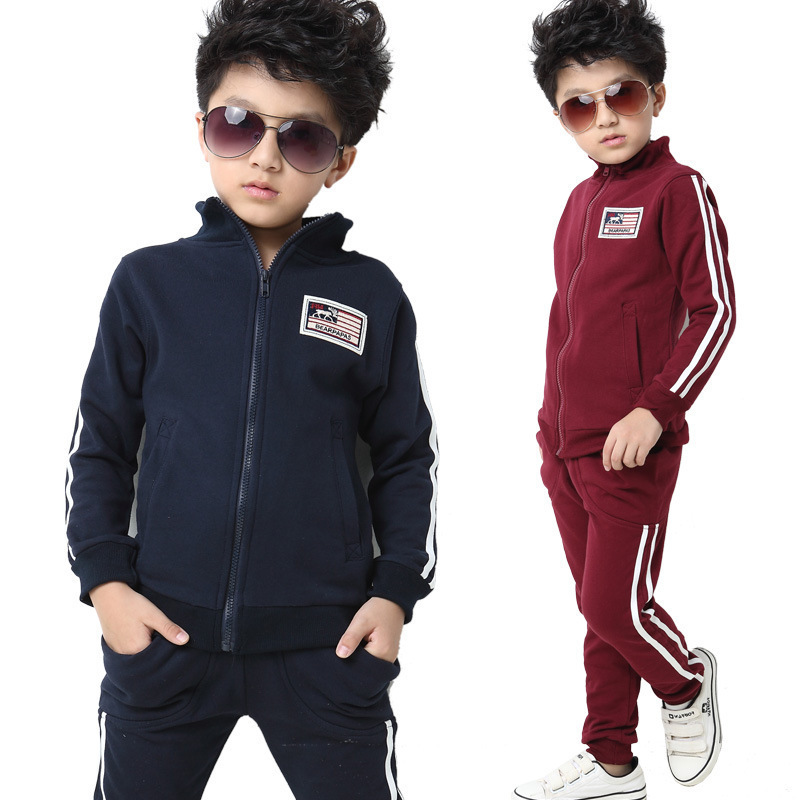 High Quality boys clothes 2 colors children sport sets 1pca retails kids tracksuit Free Shipping W3072<br><br>Aliexpress