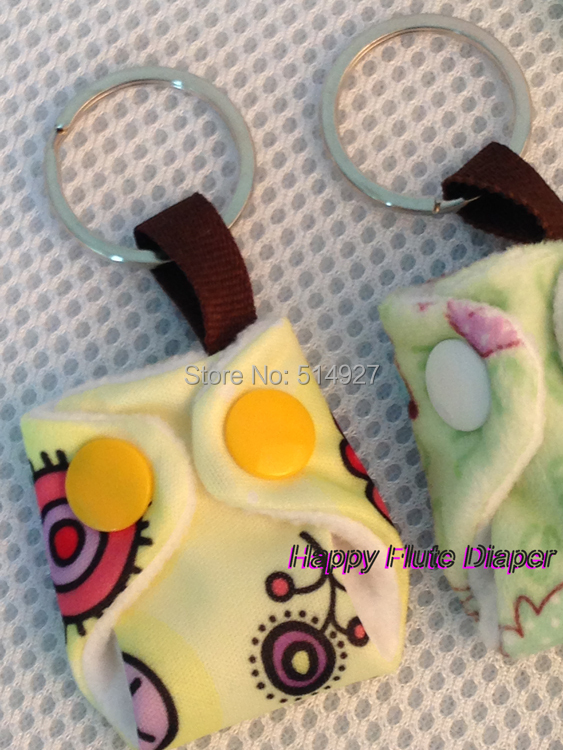 Happy flute diaper keyring, promotion gift for customers of mums