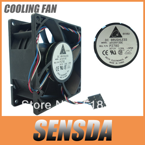 Free Shipping Wholesale Delta AFC0912DE 9038 9238 9CM 90mm DC 12V 2.5A For 4700 8400 GX280 P/N:P2780 server inverter cooling fan(China (Mainland))