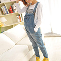 Korean Style Pregnant Jeans Pants Loose Casual Denim Pants Adjustable Ladies Trousers Maternity Prop Belly Pants