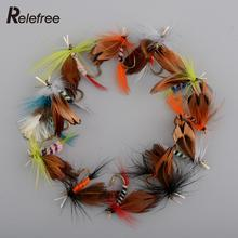 12x Lots Outdoor Sports Fishing Flies Dry Fly Tackle Lures Butterfly Barb Single Hooks Set Useful Hot Sale