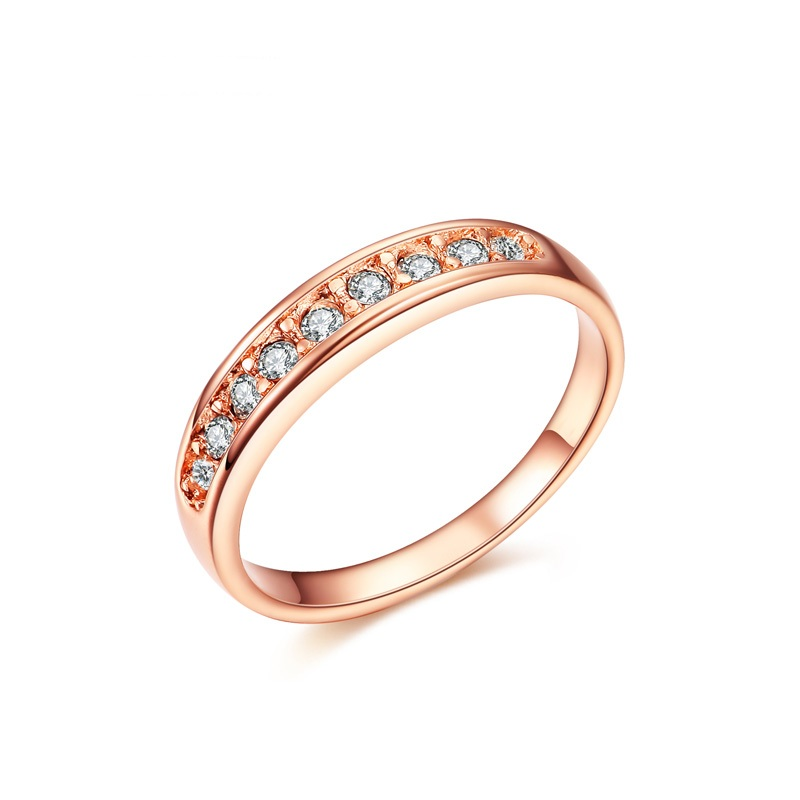 J122 Rose Gold ring women jewelry wedding ring With Austrian Crystal Ring 18K