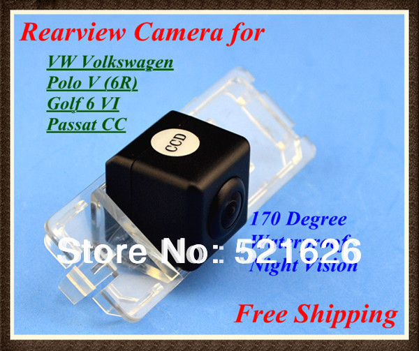 Factory selling Special CMOS Car Rear View Reverse Camera Waterproof for VW Volkswagen Polo V (6R)/ Golf 6 VI / Passat CC(China (Mainland))
