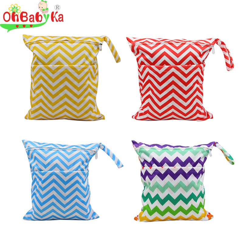 OhBabyKa Baby Diaper Bag Wet 2016 Brand Swim Diaper Backpack Baby Changing Bag Character Print Washable Cloth Diaper Nappy Bags(China (Mainland))