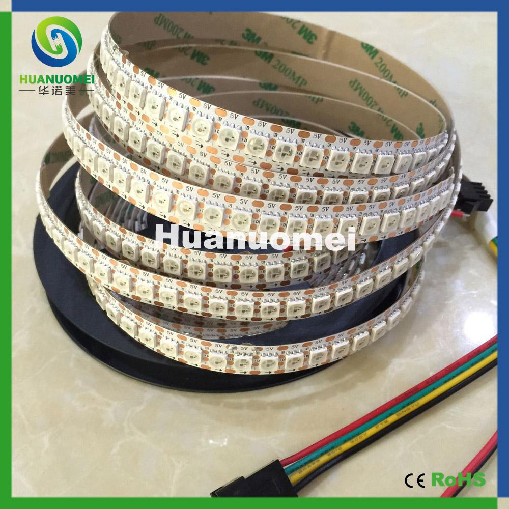 addressable magic digital dream color rgb WS2811 WS2813 144 led pixel strip light, 2M/roll, DC5V, White PCB, Non-waterproof IP20