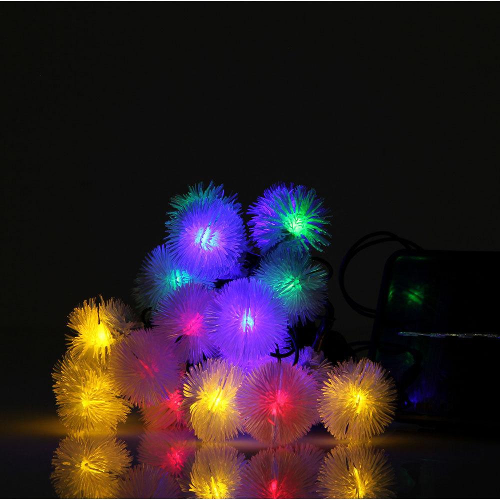 lights garden courtyard hairy ball christmas lights decorative lights