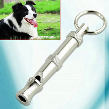High Quality Stainless steel Dog Puppy Whistle Ultrasonic Adjustable Sound Key Training for Dog Pet