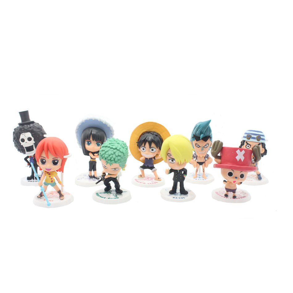 Limited Collector! 12CM 9pcs/set One Piece New World Anime Figuarts SPECIAL MH POP Luffy Figuarts luffy zoro nami Action Figure(China (Mainland))