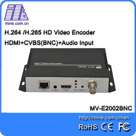 E2002BNC Factory Price Full HD H.264 HDMI+BNC (CVBS) dual interface input video encoder Support ONVIF protocol and NVR recording(China (Mainland))