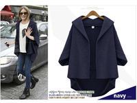 большой ярдов европейских и американских женщин новое падение потерять жира мм длинные секции шерстяные пальто