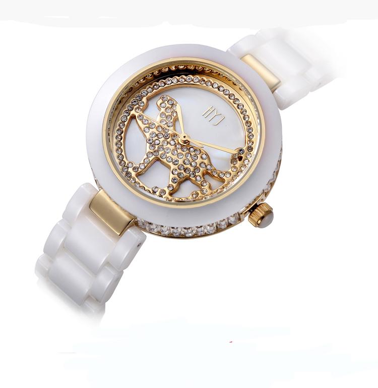 Rose Gold Crystal Rhinestone strap ceramic Dress ladies Watch Stylish Women Watches Hours Quartz Wristwatches h260<br><br>Aliexpress