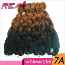 5Packs 24″ 100G Xpression Braiding Hair Black To Dark Brown Ombre Twist Kinky Marley Braid Hair For Box Crochet Braids Twist