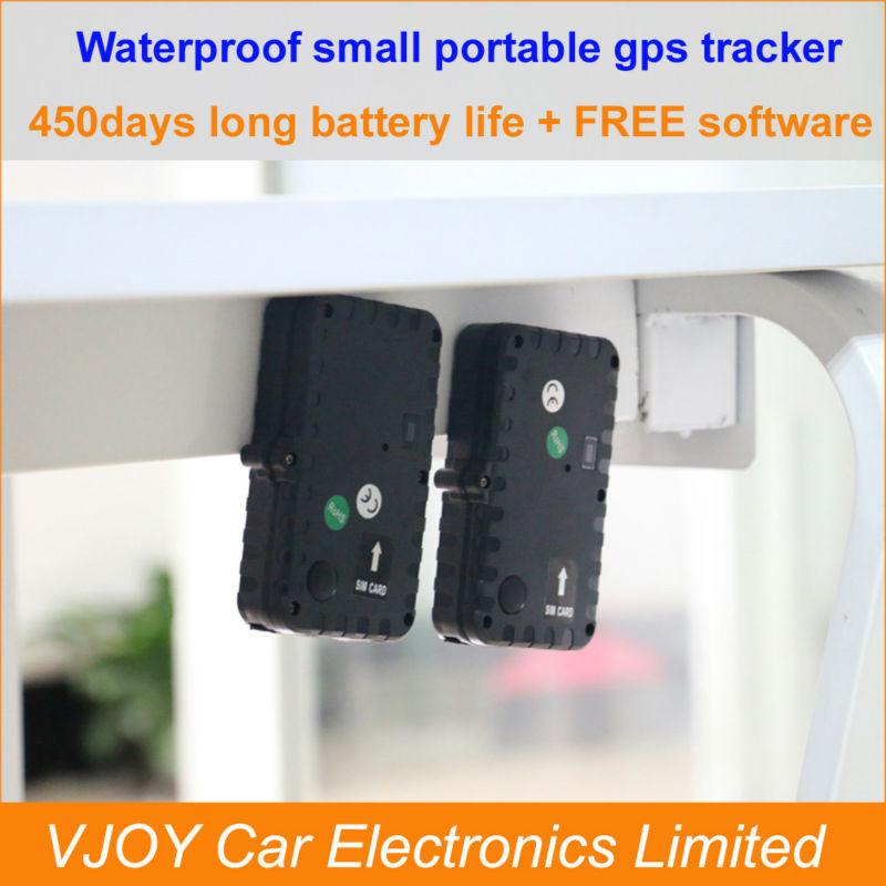 FREE shipping!Portable small rastreador gps: waterproof, long battery life 450days,magnet free install, free tracking software(China (Mainland))
