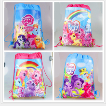 2016school bags kids cartoon Pony drawstring backpack& bag For kids bag back to school mochila infantil-4(China (Mainland))