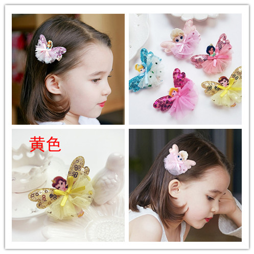 Cute Elsa Anna Princess Girls Hair Clip Cartoon Images Hair Pins Princess Mini HeadDress Hairgrip Kids Hair Accessories(China (Mainland))