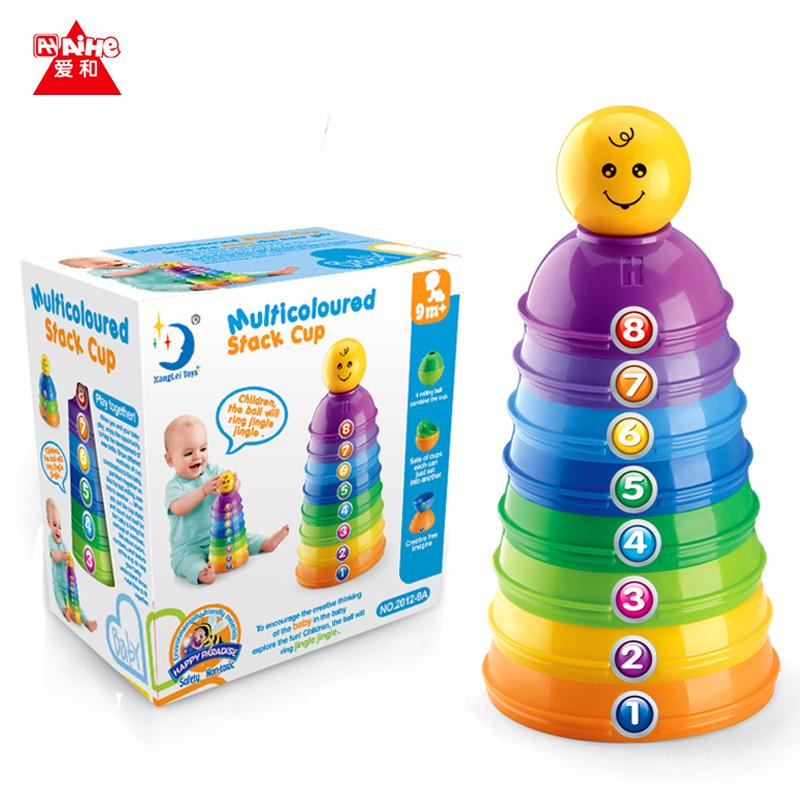 Kids Stacking Toys : Stacking stacks cups with count number letter ball bell