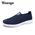 Weweya 2017 Summer Casual Men Shoe Breathable Krasovki Men Male Loafers Shoes Slip On Mens krasovki