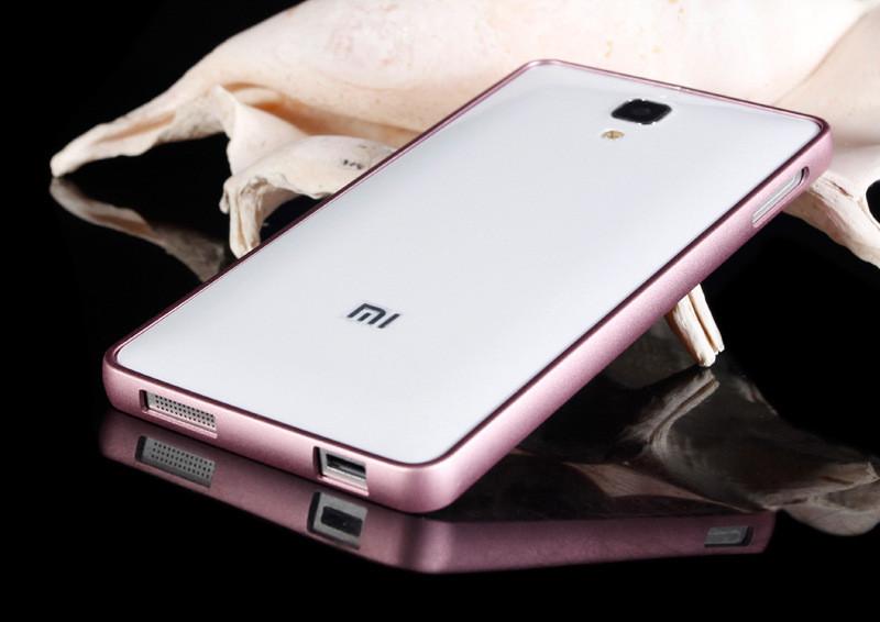 For Xiaomi mi4 Black Bumper Fashion Gold Aluminum Metal Frame Protective Cover For Xiaomi m4 mi 4 Cell Phone Accessories bm803