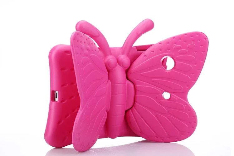 Tablet PC Kids Butterfly EVA Foam Soft Stand shockproof drop resistance back Cover Case for iPad 4 3 2 with wing stand holder(China (Mainland))