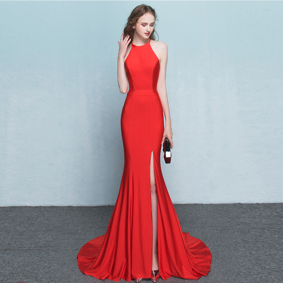 Simple Red and Black Party Dress | Dress images