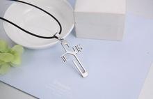 Fashion necklaces JESUS cross Pendant 316L Stainless Steel necklaces pendants Leather Chain women men jewelry