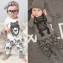 Toddler Baby Boy Girls T-shirt+ Pant Outfit Set Pajamas Clothing for 1T 2T 3T 4T New