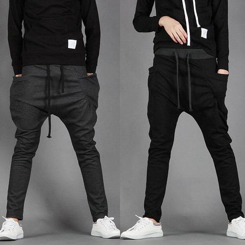 Sarouel Baggy Tapered Bandana Pants Hip Hop Dance Harem Sweatpants Drop Crotch Pant Men Parkour Sport Track Tapered Trousers A40(China (Mainland))