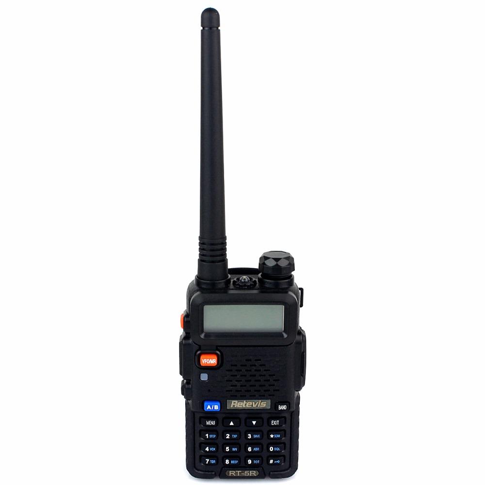 Retevis RT 5R Walkie Talkie 5W 128CH UHF + VHF Ham Radio Hf Transceiver DTMF Portable Radio A7105A(China (Mainland))