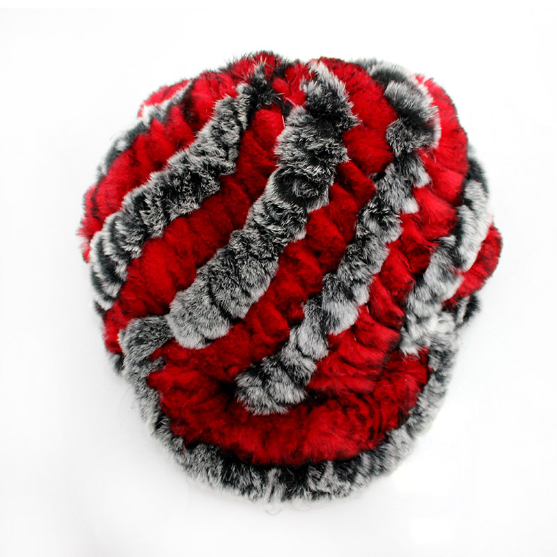 2015 Women's Fashion Real Knitted Rex Rabbit Fur Hats Lady Winter Warm Free Size Casual Beanies Caps Female Newsboy Caps RH-010(China (Mainland))