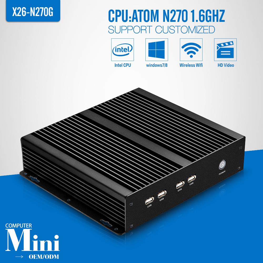 N270 single core mini desktop computer barebone pc thin client terminal Best Desktop Replacement(China (Mainland))