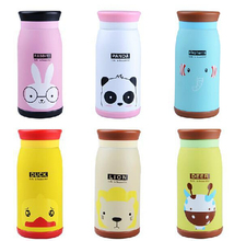Free shipping 350ml Vacuum Cartoon Stainless Steel Belly Cup Flask Thermos Water Cup Cute Bottle Thermo Mug