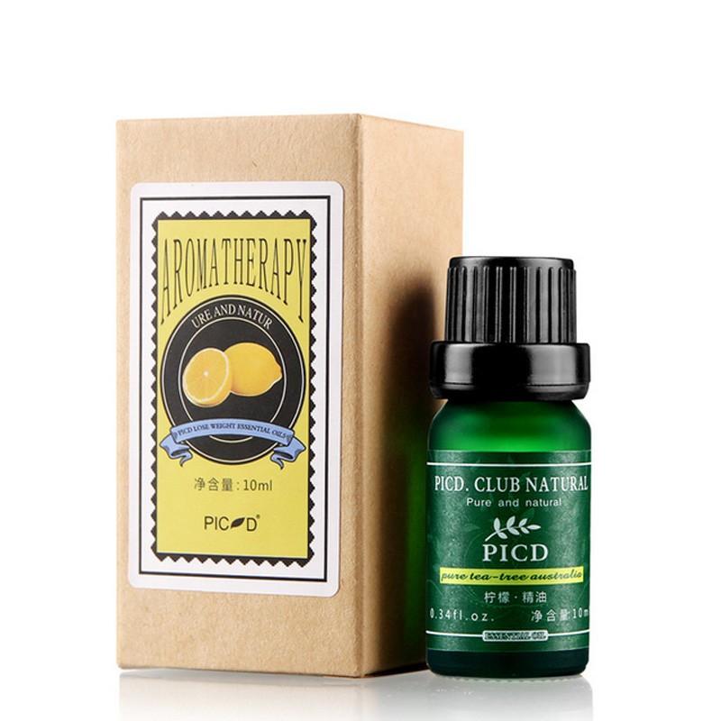 10 ml de óleo essencial lemon/rosa/lavanda/cuidados com a pele da árvore do chá natural hidratar acne remoção clareamento massagem óleo de banho spa