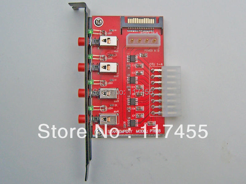 Four channel SATA device power switch, SATA hard drive HDD Power selector (Star Empery PT628)(China (Mainland))