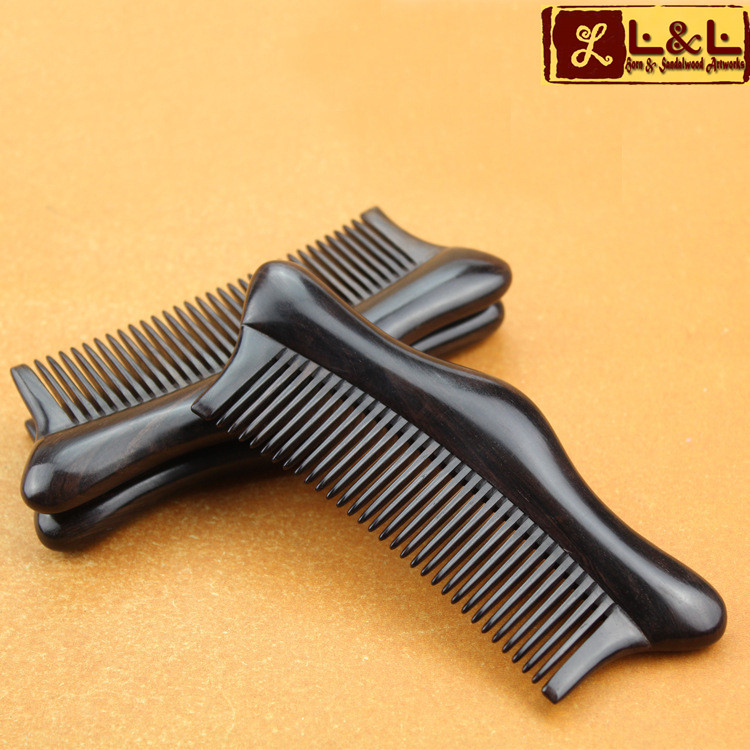 Fashion Natural Ebony Boutique Comb Excellent Quality With Gift Bag Hair Care Massage Anti static Brush Tangle Hair Tools L-996(China (Mainland))